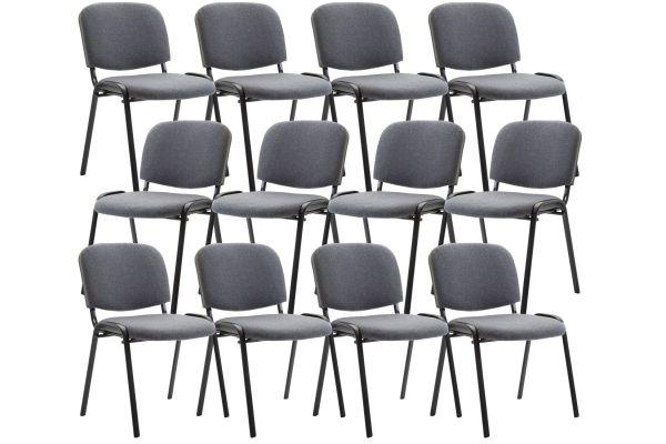 Set 12 sedie Conferenza Ken in Tessuto