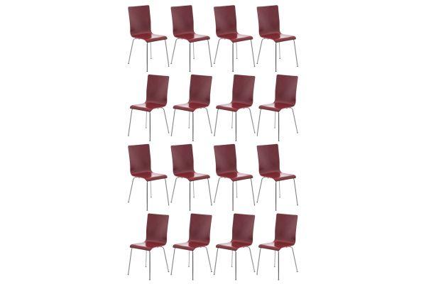 16er Set Besucherstuhl Pepe rot