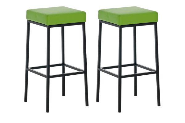 2er Set Barhocker Montreal 85 Kunstleder schwarz grün