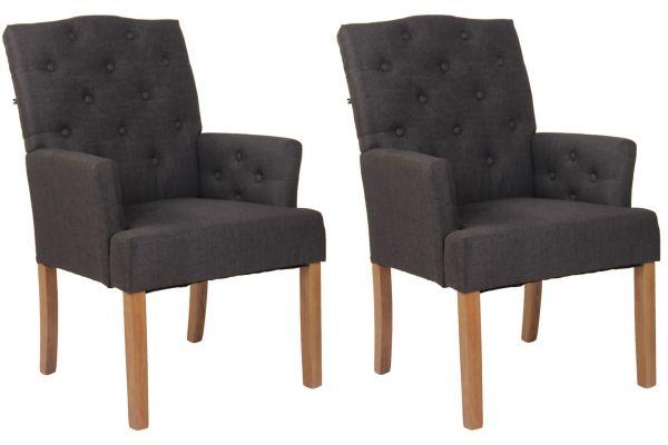Set 2 sedie soggiorno Sugar in tessuto