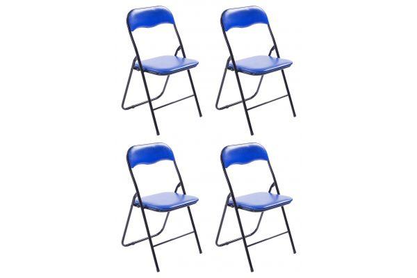 4er Set Klappstuhl Felix blau/schwarz