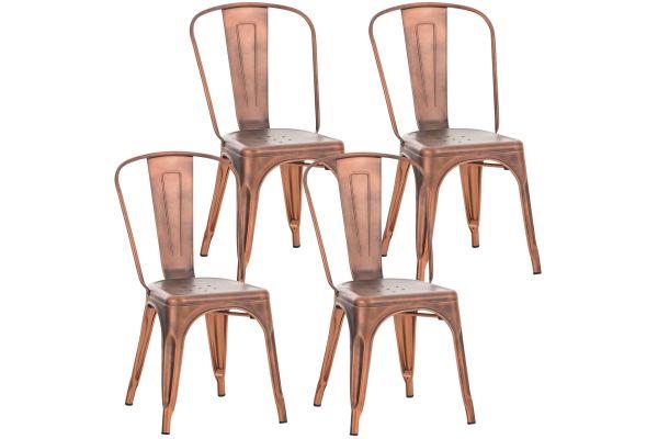 4er Set Stuhl Benedikt kupfer