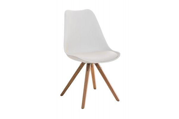 Stuhl Pegleg Square natura weiß