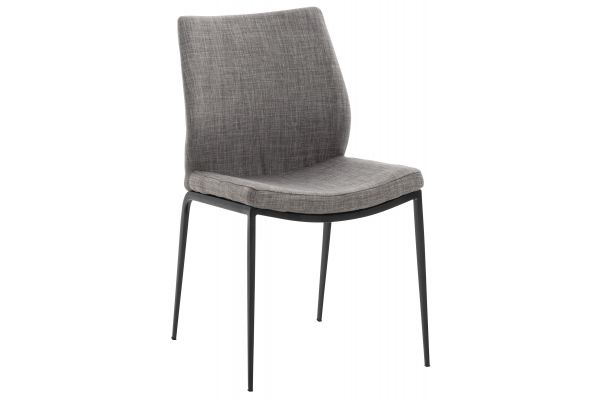 Stuhl Riverton Stoff schwarz grau