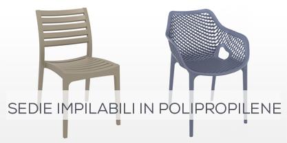 Sedie impilabili in polipropilene